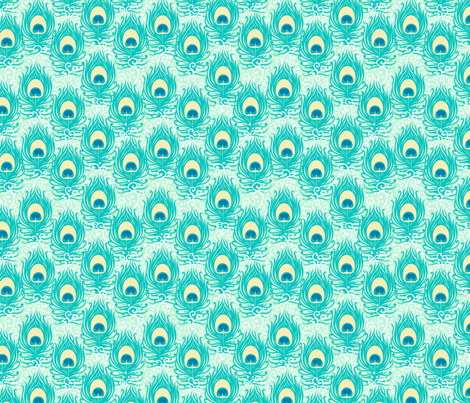 Peacock Feathers fabric by oksancia on Spoonflower - custom fabric