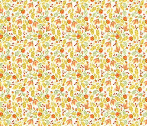 Autumn Garden fabric by oksancia on Spoonflower - custom fabric