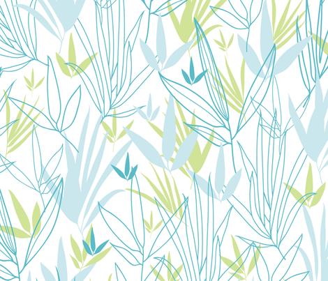 Line Art Bamboo fabric by oksancia on Spoonflower - custom fabric