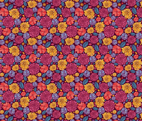Vibrant Garden fabric by oksancia on Spoonflower - custom fabric