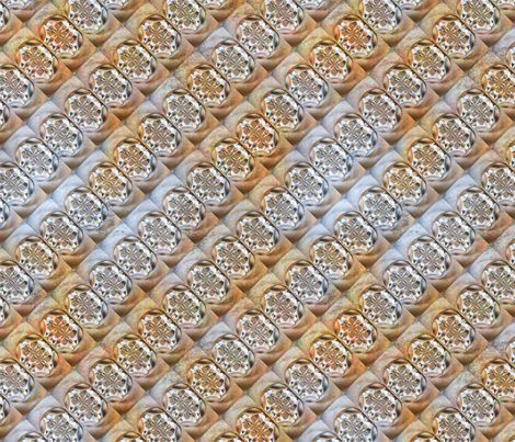 Rusted Cast Iron L fabric by animotaxis on Spoonflower - custom fabric