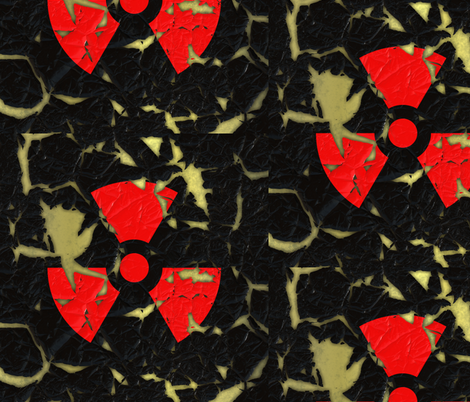 Worn Radiation Sign L fabric by animotaxis on Spoonflower - custom fabric