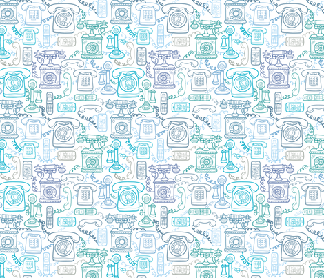 Doodle Phones fabric by oksancia on Spoonflower - custom fabric
