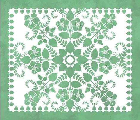 Akahai Quilt (green colorway) fabric by jennartdesigns on Spoonflower - custom fabric