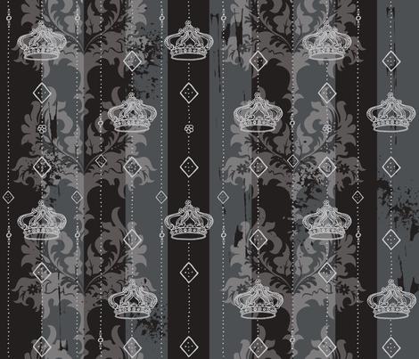 Powder Room Royale a la Goth fabric by cynthiafrenette on Spoonflower - custom fabric