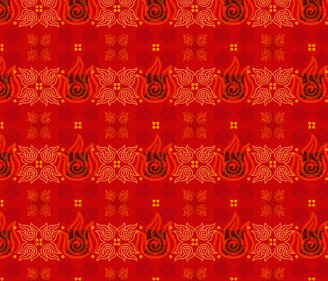 Avatar: Fire Nation (small) fabric by kellyw on Spoonflower - custom fabric
