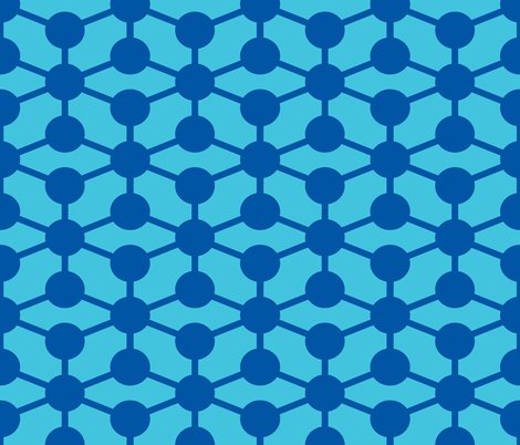 simple molecule in blue fabric by jenr8 on Spoonflower - custom fabric