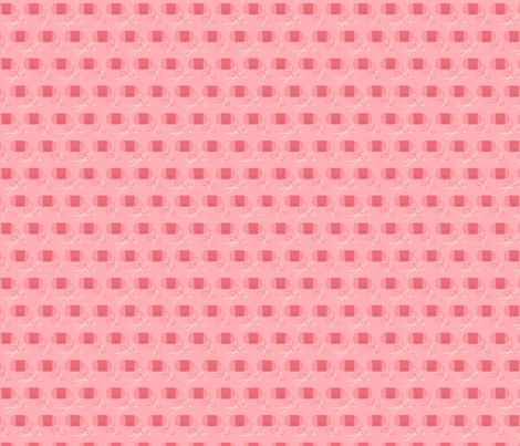 Craftiness! Pink Yarn fabric by wildolive on Spoonflower - custom fabric