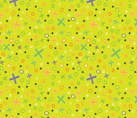 noughts and crosses fabric by mondaland on Spoonflower - custom fabric