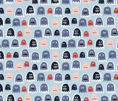 Boo! fabric by mondaland on Spoonflower - custom fabric