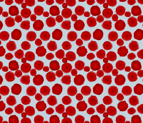 Red Ranunculus fabric by ormolu on Spoonflower - custom fabric