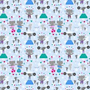 Trumpet and Squeak Circus (blue)