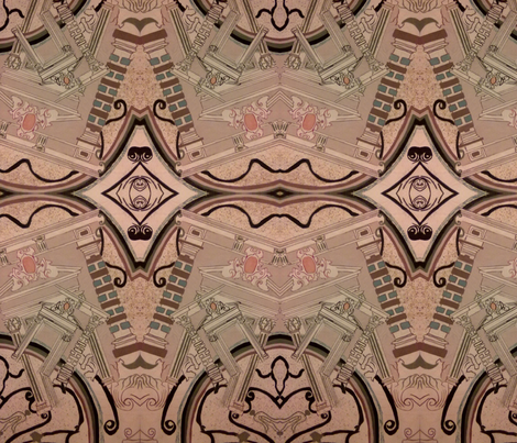 gothic city architecture fabric by raasma on Spoonflower - custom fabric
