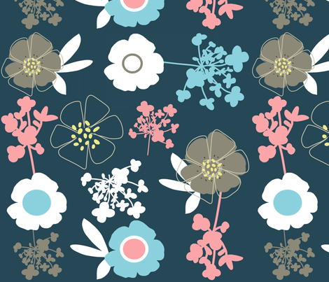 blue spring fabric by emilyb123 on Spoonflower - custom fabric