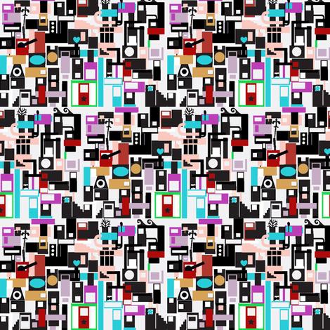 Tiny City fabric by boris_thumbkin on Spoonflower - custom fabric