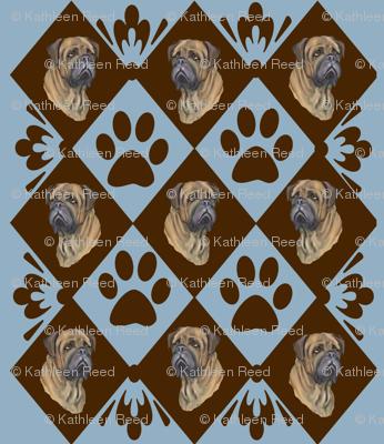 mastiff and diamonds