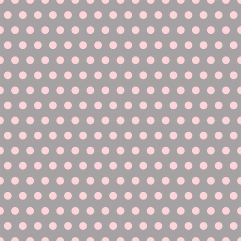Pink on Grey Polka Dots fabric by glitzjeep on Spoonflower - custom fabric