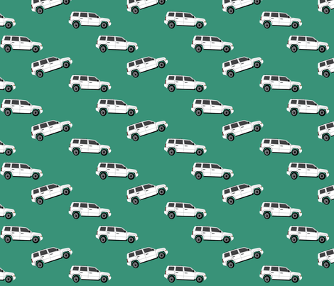 Jeep - Side View fabric by corinnevail on Spoonflower - custom fabric