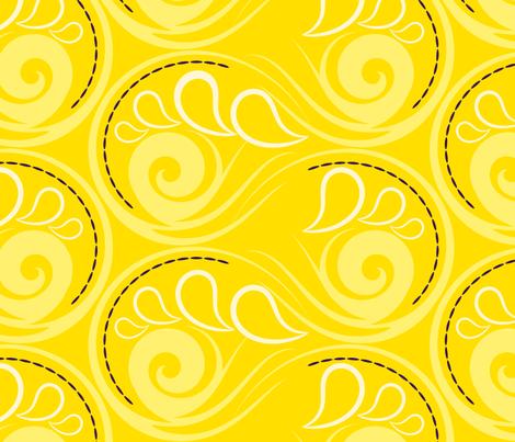 Seashell swirls fabric by borianakostova on Spoonflower - custom fabric