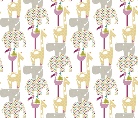 Animal Impressions Collection - Animal Tower fabric by ttoz on Spoonflower - custom fabric