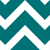 large teal chevron
