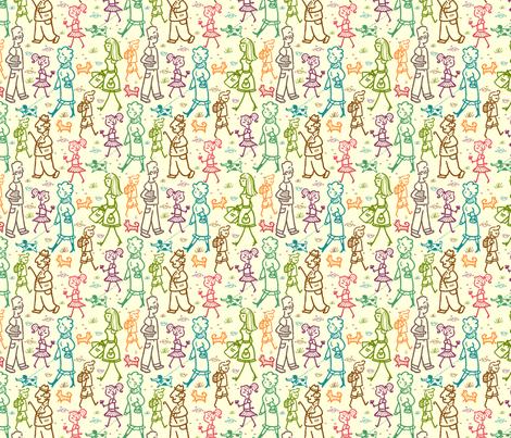 People On The Street fabric by oksancia on Spoonflower - custom fabric