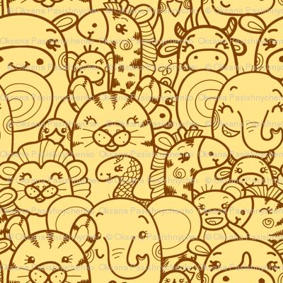 Wild Animals - Yellow and Brown