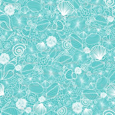 Seashells Line Art