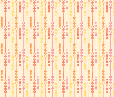 Painted Beads (Warm) fabric by leighr on Spoonflower - custom fabric