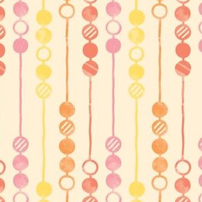 Painted Beads (Warm)