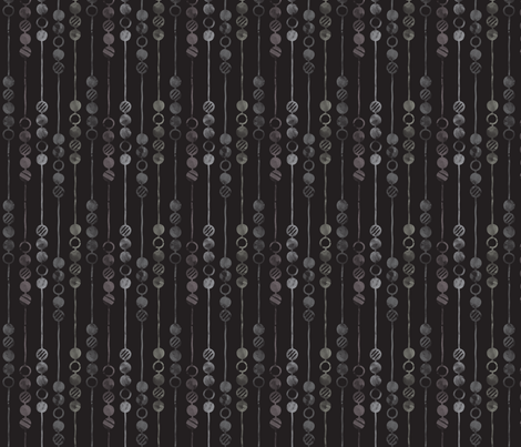Painted Beads (Ghost) fabric by leighr on Spoonflower - custom fabric