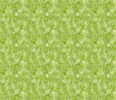 Green Nature fabric by oksancia on Spoonflower - custom fabric
