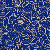 Blue Kimono Garden
