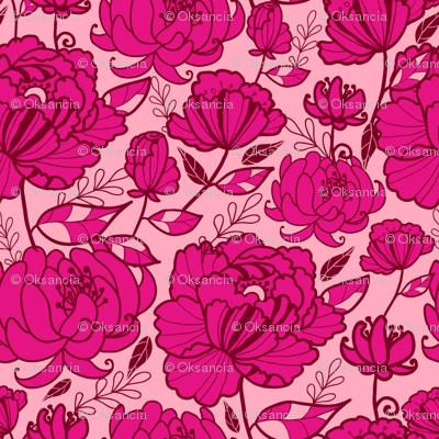 Pink Garden Kimono