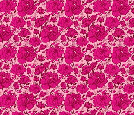 Pink Garden Kimono fabric by oksancia on Spoonflower - custom fabric