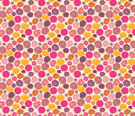 Vibrant Flowers fabric by oksancia on Spoonflower - custom fabric
