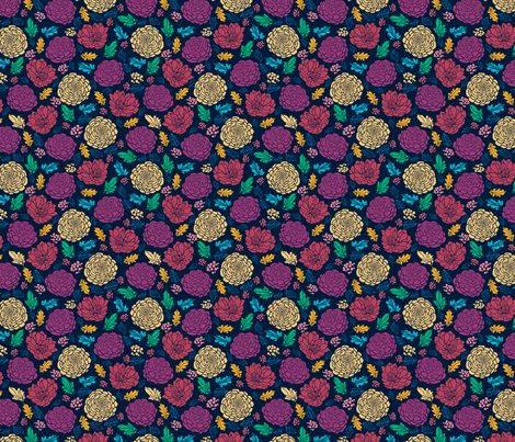 Bold Flowers fabric by oksancia on Spoonflower - custom fabric