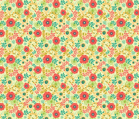 Red Flowers fabric by oksancia on Spoonflower - custom fabric