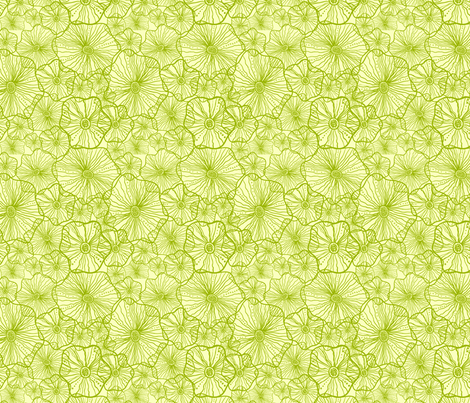 Green Seaweed fabric by oksancia on Spoonflower - custom fabric