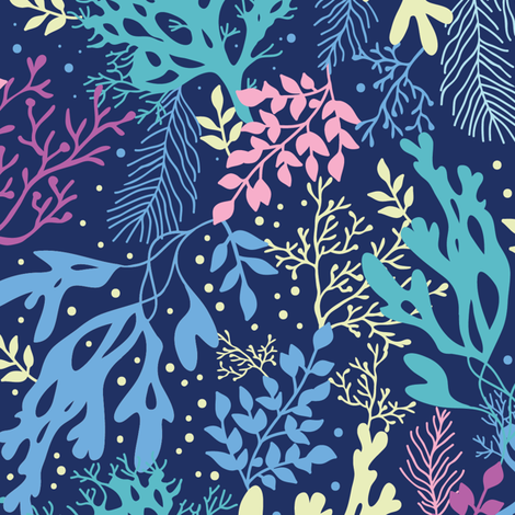 Seaweed Kingdom fabric by oksancia on Spoonflower - custom fabric