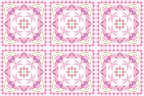 Cooktown Orchids - Feature Panels. fabric by rhondadesigns on Spoonflower - custom fabric