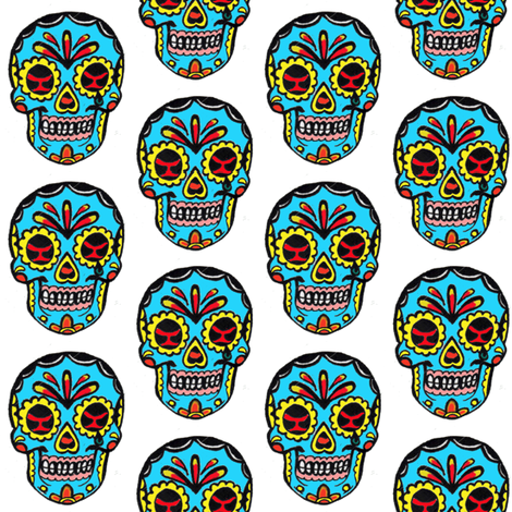 Sugar Skull Tattoo fabric by scooterpez on Spoonflower - custom fabric