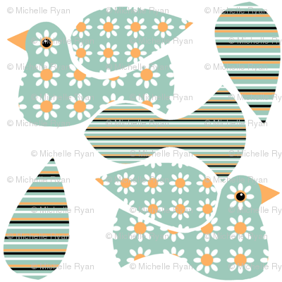 Floral Bird Mini Cut & Sew