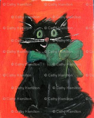Black cat Halloween Kitty