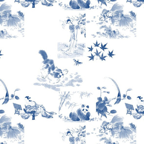 Japanese Toile in blue