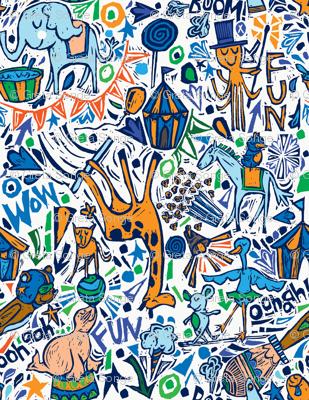 Animal-tastic Circus-BLUE COLORWAY