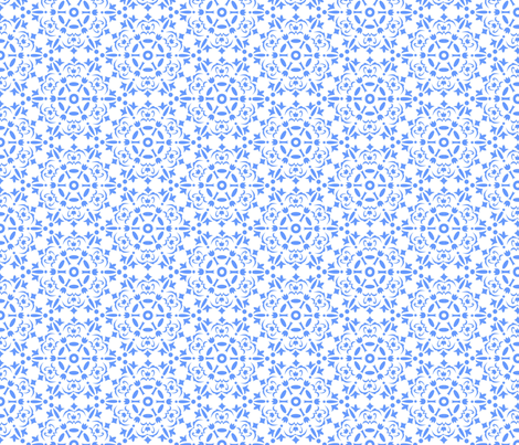 Snowflake medallion_blue fabric by cgroninga on Spoonflower - custom fabric
