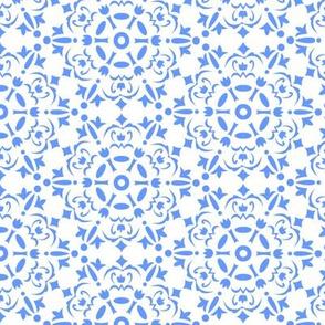 Snowflake medallion_blue