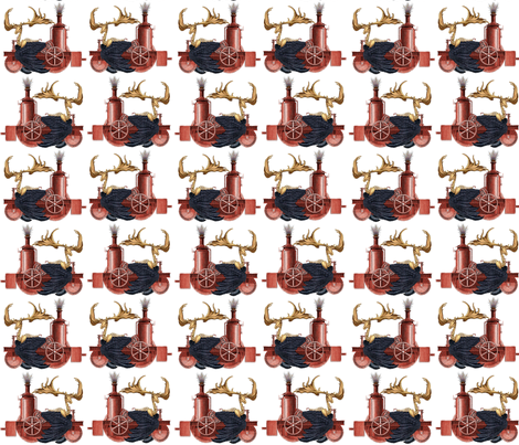 Stitchpunk Caribou fabric by glanoramay on Spoonflower - custom fabric