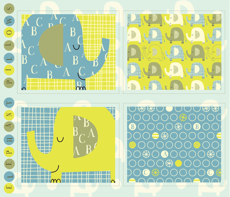 e is for elephant pillows fabric by amel24 on Spoonflower - custom fabric